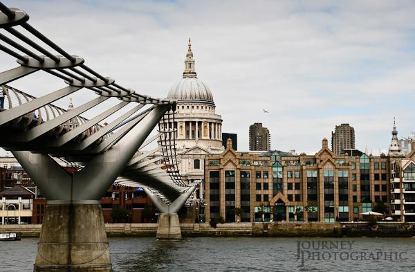 St Pauls and the Millennium Bridge, London