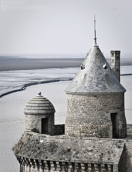 Picture of the watchtower, Mont St Michel, Normandy, France