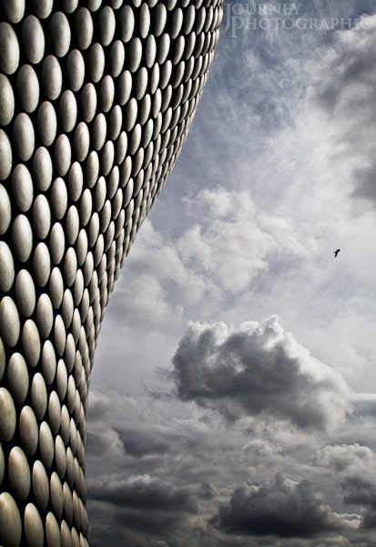 Picture of clouds and the Selfridges building in the Bullring, Birmingham