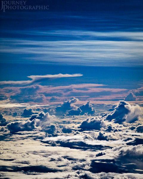 Picture of a cloud landscape at 30,000 ft