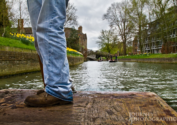 Picture of punting on the River Cam, Cambridge