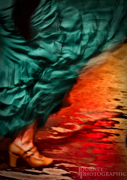 Picture of a flamenco dancer, Granada, Spain