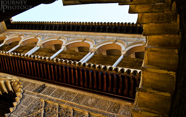 Picture of a balcony at the Royal Alcazar, Seville, Spain