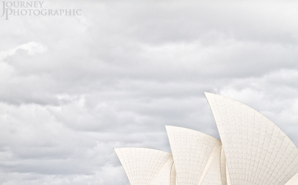 High key picture of the Sydney Opera House, Australia