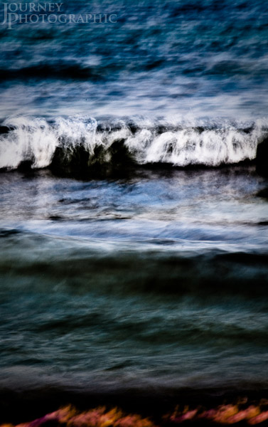 Colour picture of waves in motion seascape, Florida, USA