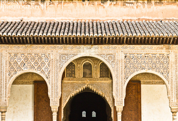 Picture of the North Gallery of the Court of the Myrtles, the Alhambra, Granada, Spain