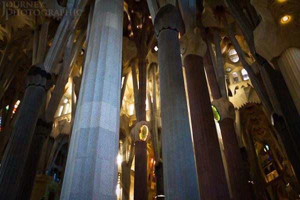 Picture of the Sagrada Familia Columns, Barcelona, Spain