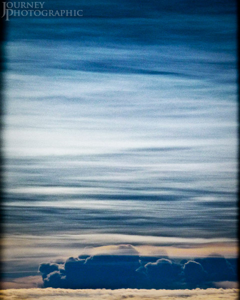 Aerial picture of cloudscape