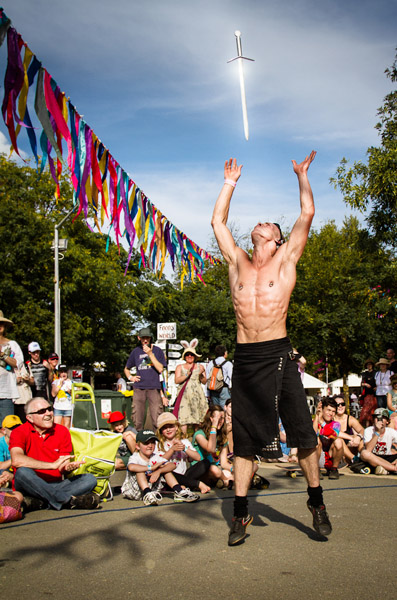 Picture of Sword Swallower Aerial Manx, National Folk Festival, Canberra