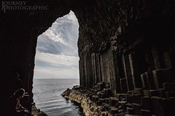 Picture looking out of Fingal's Cave towards Iona, Staffa, Scotland