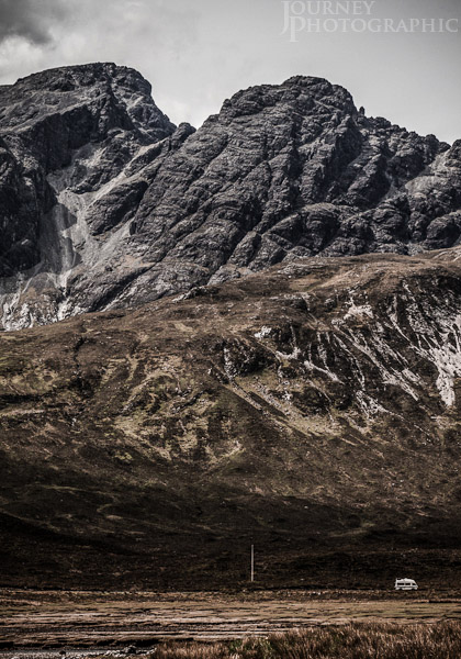 Landscape picture of the Black Cuillins mountains, Isle of Skye, Scotland