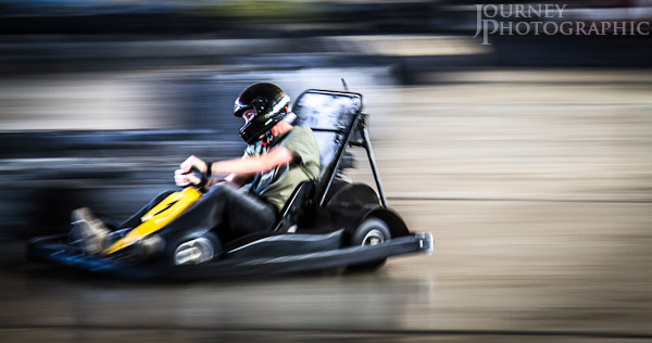 Picture of a go kart with speed blur, Canberra, Australia