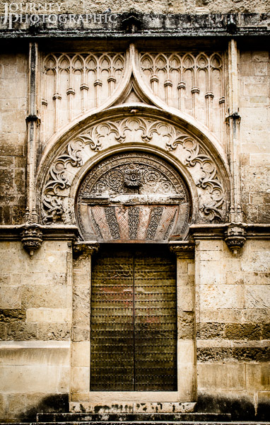 Picture of external door in the Mosque–Cathedral of Córdoba, Spain