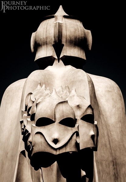 Pictures of witchscarers on the roof of Gaudi's Casa Mila (La Pedrera)