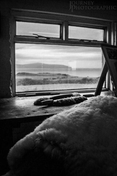 Skyeskyns window, Isle of Skye, Scotland