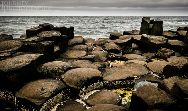 Landscape picture of the Giant's Causeway, Northern Ireland