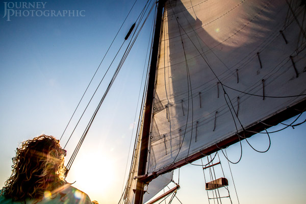 Picture of girl sailing in the sun, Charleston, South Carolina